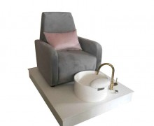 Beauty Salon Furniture European Style Hot Sale SPA Pedicure Sofa Pedicure Chair With Bowl