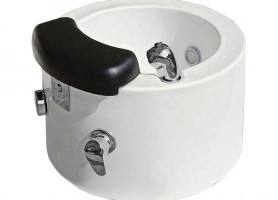 High Quality White Pedicure Sink Bowls For Spa Massage Pedicure Chairs Foot Bath Basin