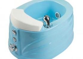 Hot selling foot spa square pedicure bowl sink chair fiberglass material massage pedicure basin