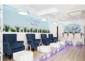 Alibaba Nail salon furniture manicure sofa station pedicure chair spa foot massage benches