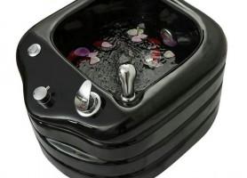 salon pedicure chair glass fiber foot washing tub