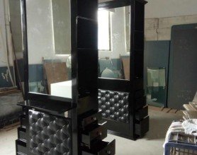 Double sided Barber Furniture Hairdressing Salon Styling Mirror Beauty Makeup Station