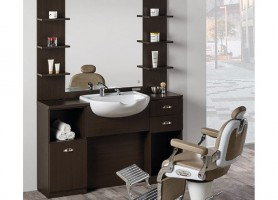 Classic Heavy Duty Hairdressing Salon Styling Stations Mirror Station With Bowl