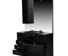 Hair salon  barber wooden mirror station cabinet  backwash bowl