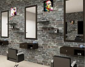 Hairdresser barber shop station mirrors salon furniture beauty makeup mirror