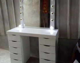 Makeup Table Styling Station Salon Furniture Beauty Hair Dressing Makeup Mirror with Lights