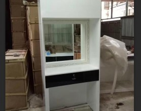 Customize White Hairdressing Salon Styling Stations Makeup Station
