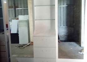 Hot Sale Classic French Style High Gloss White Mirror Station