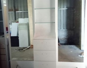 High Gloss White Styling Mirror Station Salon Furniture Beauty Hair Dressing Mirror