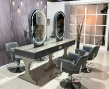 salon furniture makeup mirror hairdressing salon station with mirror