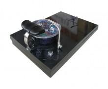 Black portable tub bath foot SPA sink for pedicure basin in pedicure chair