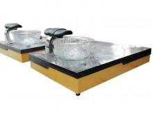 Professional nail spa equipment white fiberglass pedicure base with foot bath spa bowl