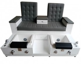 Double pedicure foot massage bowl chair nail bar furniture sofa spa tub station manicure benches