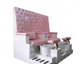Luxury high back salon pedicure foot massage bowl chair nail bar tub bowl manicure sofa spa station