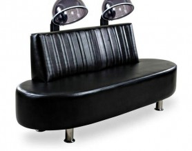 Hood hair steamer salon couch client reception styling chair beauty dryer sofa customer waiting bench
