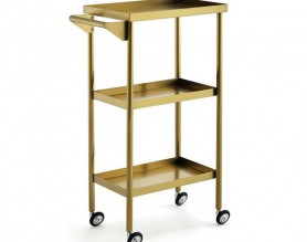 China Steel Beauty Manicure Nail Salon Facial Pedicure Tools Storage Cart Barber Hairdressing Trolley