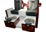 Amazon Double leisure spa tub pedicure foot massage bowl chair nail bar sofa station manicure benches