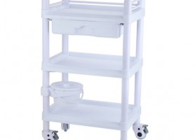 Beauty Manicure Nail Salon Facial Pedicure Cart Steel Hospital Medical Trolley with Storage Drawers