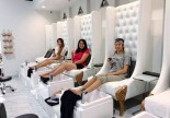 Modern leisure spa pedicure tub foot massage bowl chair nail bar sofa station manicure pedicure bench