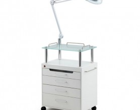 Beauty Salon Nail Pedicure Medical Tools Storage LED Cart Cabinet Drawers Facial Hairdressing Trolley Styling Station