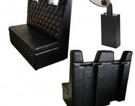 Salon couch double seat styling chair hair dryer sofa customer waiting bench with hood hair steamer