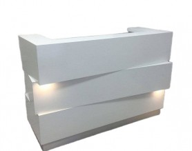 Customized beauty table front salon reception desk spa nail pedicure bar club leather checkout cashier counter