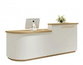 Customized spa manicure pedicure bar club checkout cashier counter LED beauty table front salon reception desk