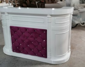 Marble stone beauty table front salon reception desk spa nail pedicure bar club leather checkout cashier counter