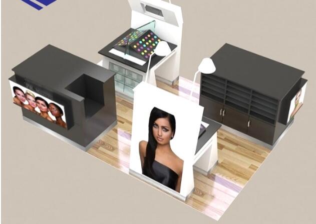 New Shopping Mall make up cosmetic display kiosk design | RONG FU