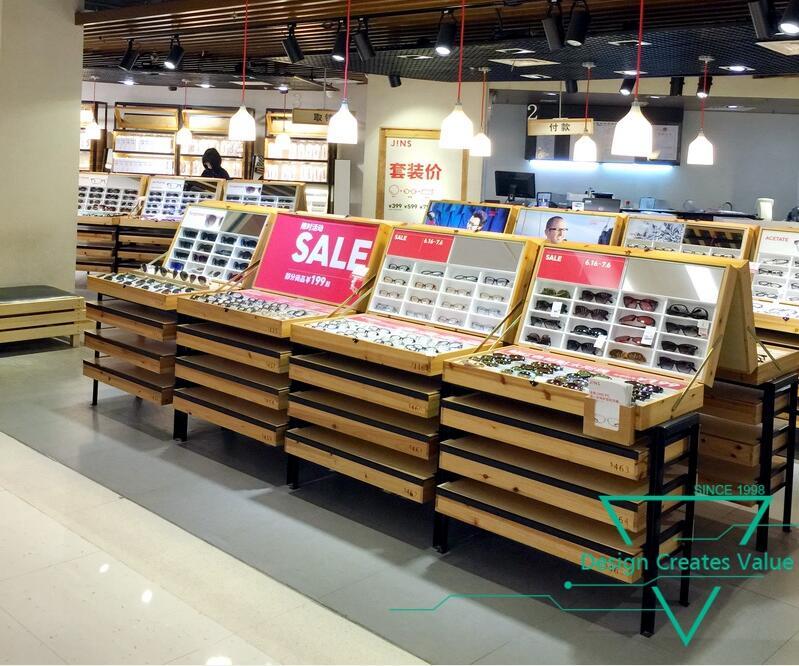 738f95cd236b Store Furniture Wooden Eyewear Showcase Counter Optical Glass Sunglasses  Display Cabinet